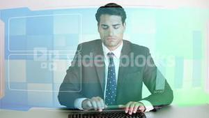 Video of business people at desk