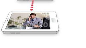 Business videos on a mobile phone