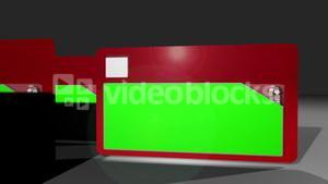 Chroma key screens on folders