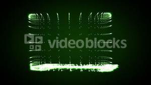 Video of a shape of a green lighting laptop