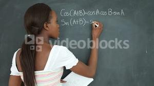 Video of a student showing a blackboard