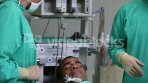 Operation of a unconscious patient
