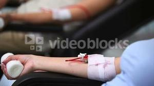 Patients giving blood