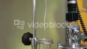 View of an intravenous drip