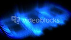 Blue glow forming a square