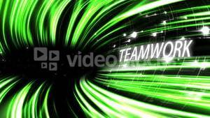 Video of a green lines with text