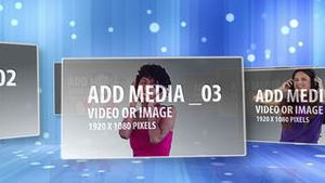 Blue Floating Media AE Version 5
