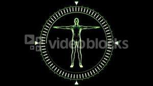 Figure of man revolving in moving dial circle