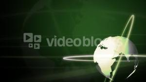 Background Animation Globe in Green