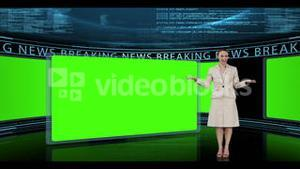 Woman presenting breaking news