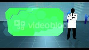 Chroma keys on medical background