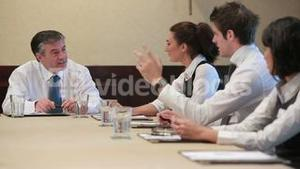 Video of business people during the meeting