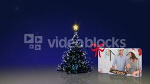 Christmas tree animation with people