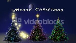 Merry christmas with trees animation