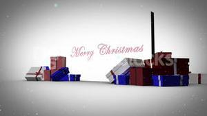 Merry christmas with happy new year animation