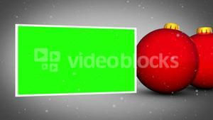 Red christmas balls animation