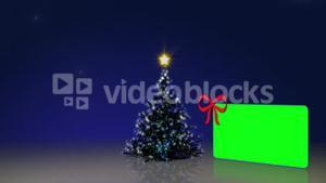 Christmas tree with green screens animation