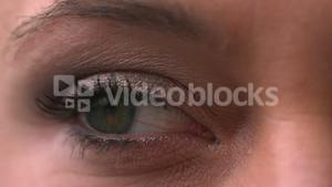 Close up of womens eye