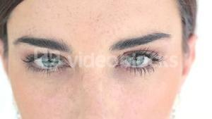 Close up of eyes with eyeshadow
