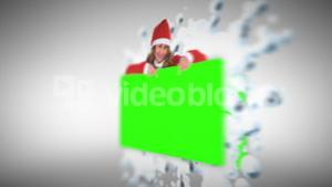 Christmas animation with green screen