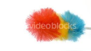Feather duster shaking
