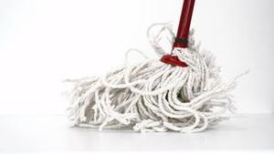 Mop in action on the floor