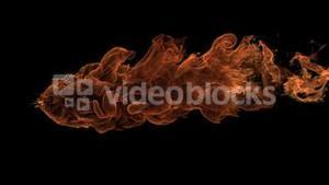 Fire ball moving in slowmotion