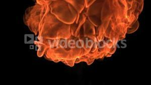 Big fire ball moving in slowmotion