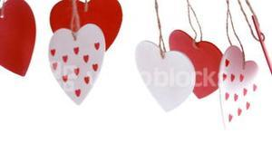 Red and white love heart decoration pending