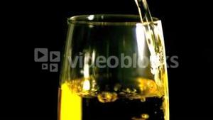 White wine being poured