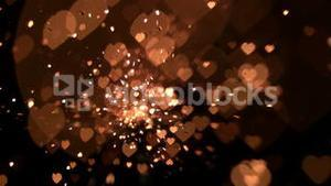 Gold confetti and sparks