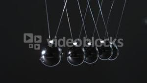 Close up of newtons cradle
