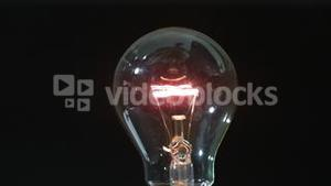 Light bulb turning on