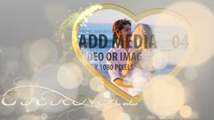 Wedding display with particles AE Version 5