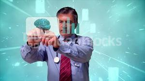 Doctor using futuristic interface