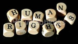 Human rights dice coming together