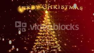 Christmas montage with red and gold introduction