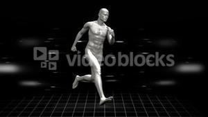 Full body scan of running digital human