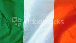 Irish flag waving in the wind