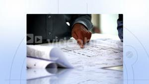 Montage of architects at work