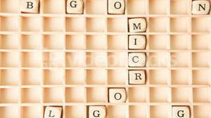 Micro blogging in a crossword shape dispersing
