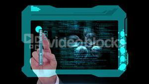 Hand scanning technology and interface