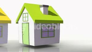 Animation of houses with corresponding BER rating colours