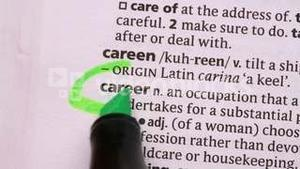 Career circled with green highlighter