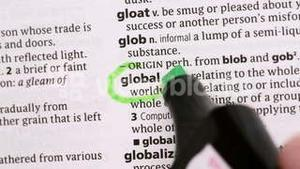 Global circled in green highlighter