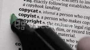 Copyright highlighted in green