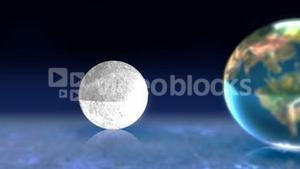 Animation of earth moon and sun