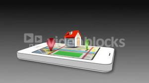 Using smartphone as interactive map
