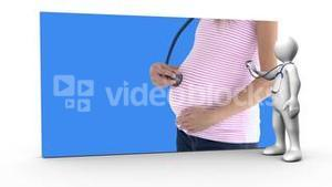 Animation of pregnant woman