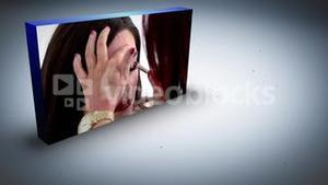 Animation with woman and make up